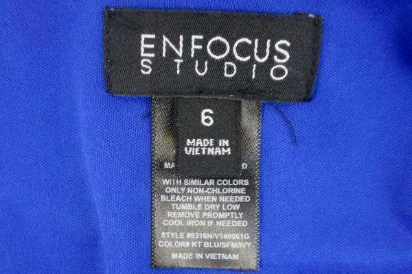 En Focus Studio Women's Sleeveless Blue Green White Dress Size 6