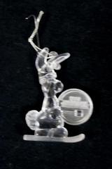 1992 Energizer Battery Bunny Mascot Christmas Ornament Clear Acrylic