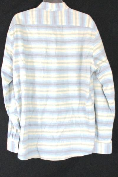 Men's Gap Striped Multi Colored Long Sleeve Classic Fit Shirt Size XL
