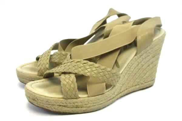 Skechers Wedge Heel Sandals Elastic Beige Natural Women's Sz US 9 EUR 39