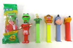 Lot of 6 Character Pez Dispensers Kermit Eeyore Pluto Fozzy 1 NIP Kermit & Candy