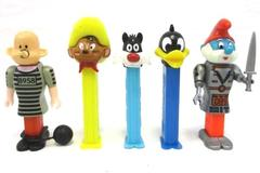 Lot of 5 Character Pez Dispensers Papa Smurf Speedy Gonzales Sylvester