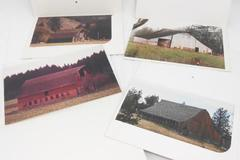 "Color Photo Enlargements Lot Of 4 Scenic Vintage 8""x 12"" Rustic Barn"