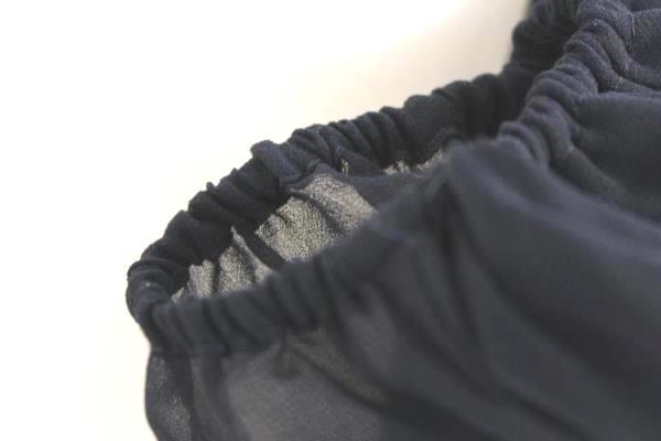 Women's Dark Blue Black Long Sleeve Scoop Neck Blouse Shirt By H&M Size 6