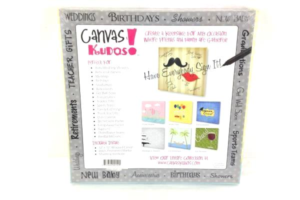 Canvas Kudos Get Well Soon Write On Picture Personalize It Gift NIP