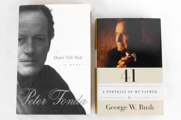 Lot of 2 Biography-Don't Tell Dad-Peter Fonda & A Portrait Of My Father-G. Bush