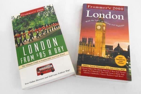 Lot Of 2 London Trip Books- Frommer's Directory & London From $85 A Day