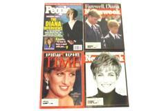 Princess Diana Magazine Lot of 4 1997 Newsweek Time People Commemorative
