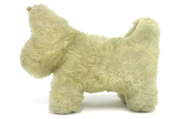 Antique Terrier Dog Toy Straw Filled Plush