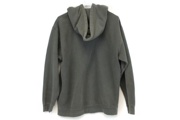 Alstyle Gray Hooded Full Zip Sweatshirt BB 10K Adult Size Medium Warm Outdoor