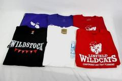 Linfield College Lot 5 T-Shirts Size M LIM Wildstock Drawstring Backpack Bag