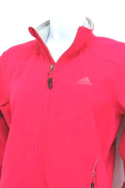 Adidas Outdoor Zip Up Jacket Soft Shell Athletic Women's Small Fuchsia Pink Zip