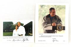 George W. & Laura Bush Signed 5x7 & 8x10 Pictures Republican National Committee