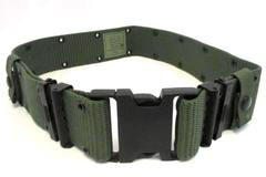 "VTG 1990s US 2"" Medium Individual Equipment Belt Army Green Quick Release"