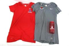Linfield Wildcat Volleyball Lot 2 Nike Pro Combat Dri-Fit Tops Med Water Bottle