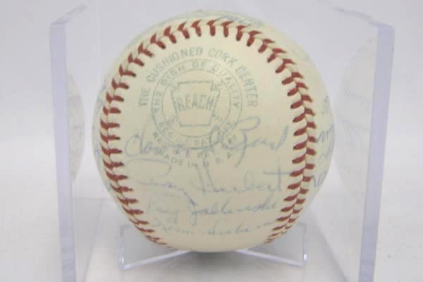 1960s KC Athletics Team Autographed 26 Signatures Signed Baseball No COA