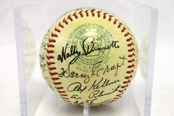 1956 KC Athletics Team Autographed 28 Signatures Signed Baseball No COA