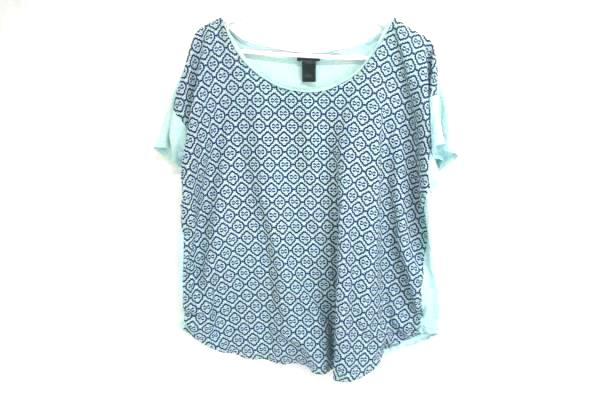 Lot of 2 Women's Tops Size XL Ann Taylor Sequined Xhilaration Short Sleeved