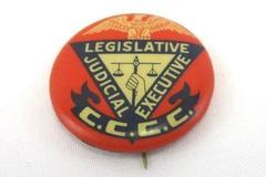 Vintage Bastian Brothers C.C.C.C. Legislative Judicial Executive Pinback