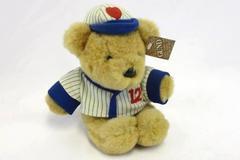 VTG 1984 Gund Stuffed Bear Baseball Uniform and Cap Gundtown Huggers #2129