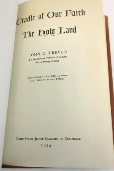 """Vintage Book """"Cradle of Our Faith: The Holy Land"""" 1954 John C. Trever Historic"""
