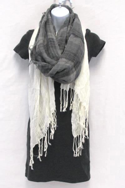 Women's Lot of 3 H&M Basic Gray Bodycon Mini Dress XS & 2 Scarves White Gray