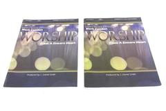 Lot of 2 Church Choir Songbooks Worship From a Sincere Heart Mark Condon