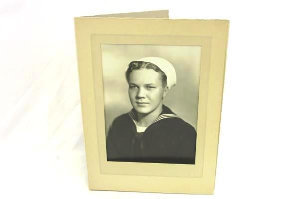 Vintage Professional Photograph Cardboard Folder 1900s Navy Man Rochester  NY
