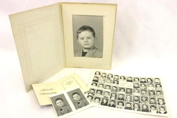 Vintage Lot of Black & White School Class Individual Photos 1950s Era