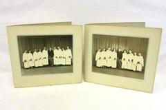 Vintage Lot Professional Photographs Cardboard Folder Black & White Choir Group