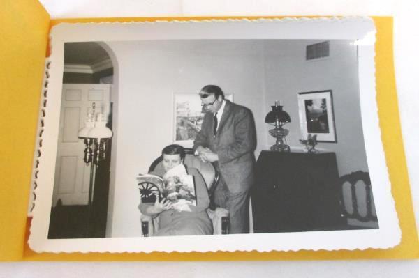 VTG Black & White Photo Album Prints Kodak Family Pictures Son Husband & Wife