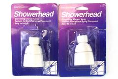 Lot of 2 Spray Sensations Drenching Shower Waxman Showerhead 76-502