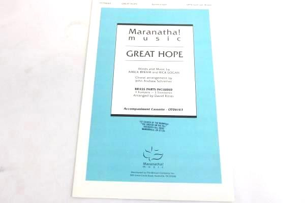 Lot of 12 Choral Sheet Music Booklets Great Hope SATB #OCT06163