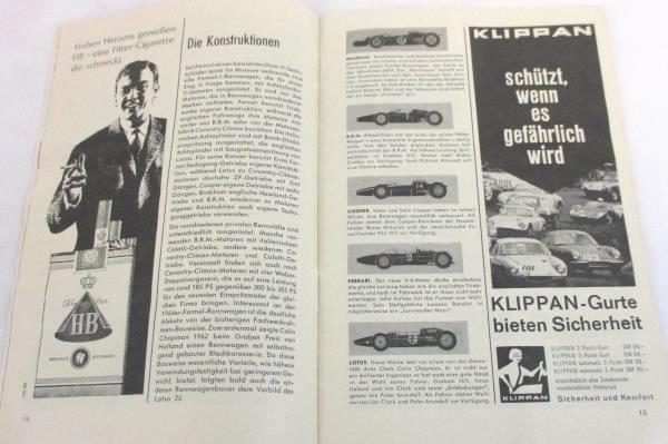 Vintage August 2nd 1964 German Automobile Club Magazine Dunlop Ludwig Erhard