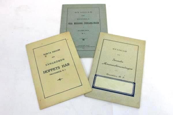 Antique Early 1900's Swedish Free Mission Assembly Congregation Pamphlets Books