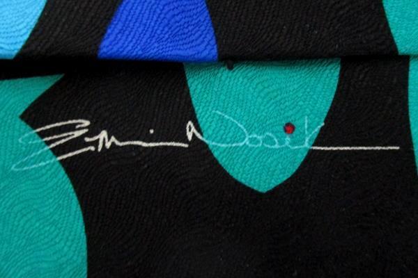 Vtg Ralph Martin & Co Men's Tie Necktie  RM Style Against The Current Fish Cross