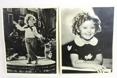 Lot of 2 Vintage Shirley Temple 8x10 Photos Black & White Child Star