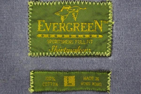 Men's Blue Evergreen Sportsman Full Fit Button Front Shirt Size Medium L