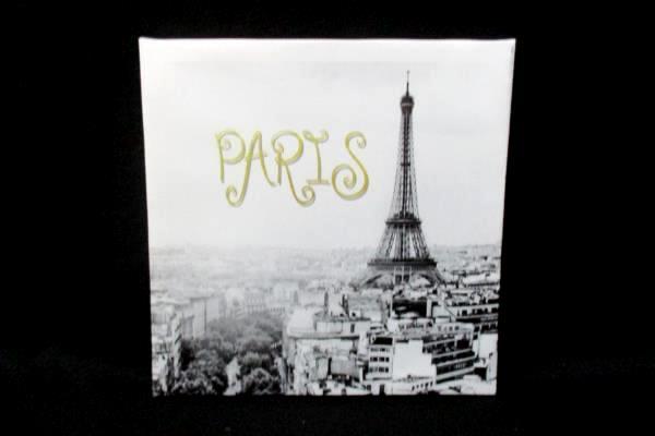 """Eiffel Tower Paris Souvenir Canvas 8.75"""" x 8.5"""""""
