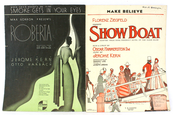 Pair of T.B. Harms Sheet Music Make Believe~When Your Heart's On Fire...