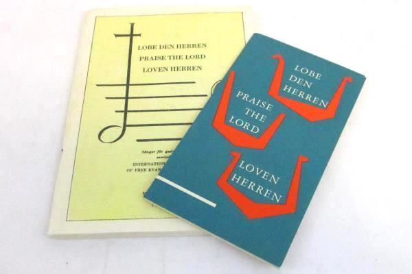 2 Vintage Swedish Church Song Books Booklets Lobe Den Herren Praise the Lord