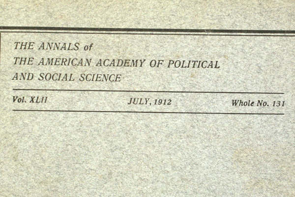 July 1912 Industry Competion Annals American Academy of Political Social Science