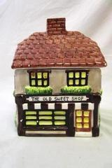 Vintage International Heartland Pottery The Old Sweet Shop Ceramic Cookie Jar