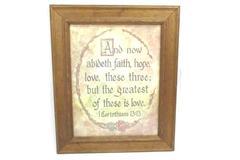 Framed LOVE Bible Passage 1st Corinthians 13:13