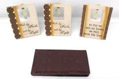 Christian Art Gifts Walk By Faith Amazing Grace My House Plaque Checkbook Holder