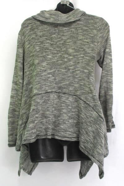 Women's DKNY Metro Style Cowl Neck Sweater Thin Knit Sharkbite Hemline Size S