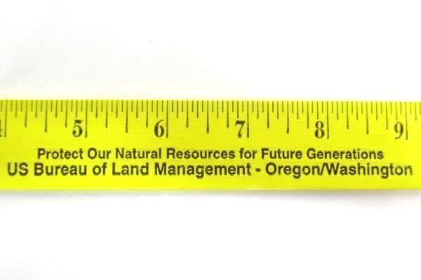 Lot of 4 Rulers - 3 Bureau Land Management + 1 Westcott