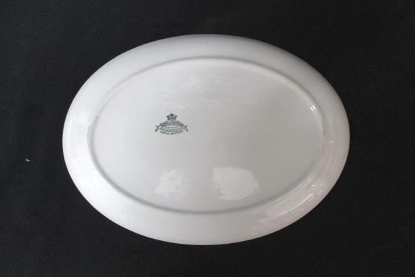 "Vintage Royal Stetson Royal Maritime White Blue Floral 14"" Serving Platter"