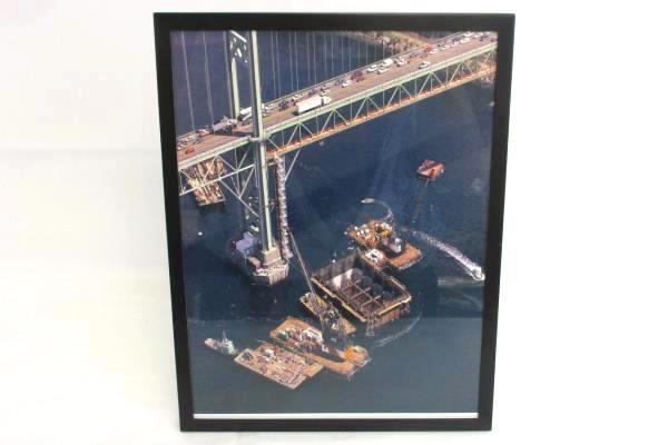 Bechtel Company Framed Photos East Syracuse Cogeneration + Tacoma Narrows Bridge