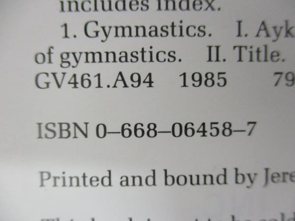 Modern Gymnastics by Peter Aykroyd 1985 Paperback
